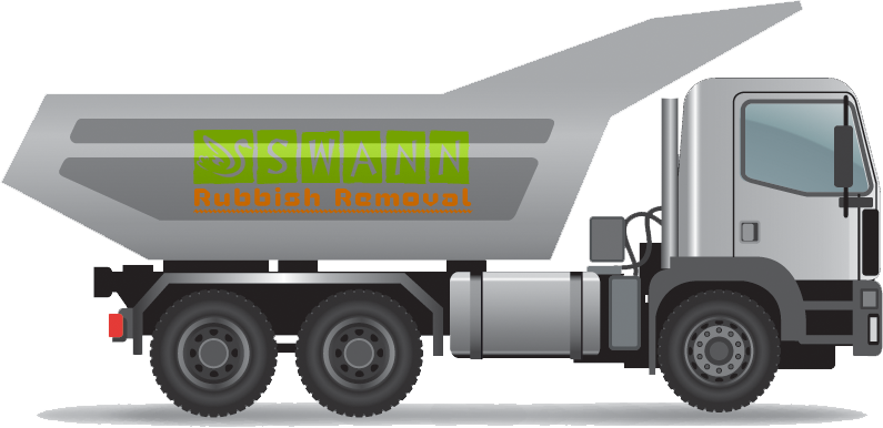 rubbish removal truck arriving